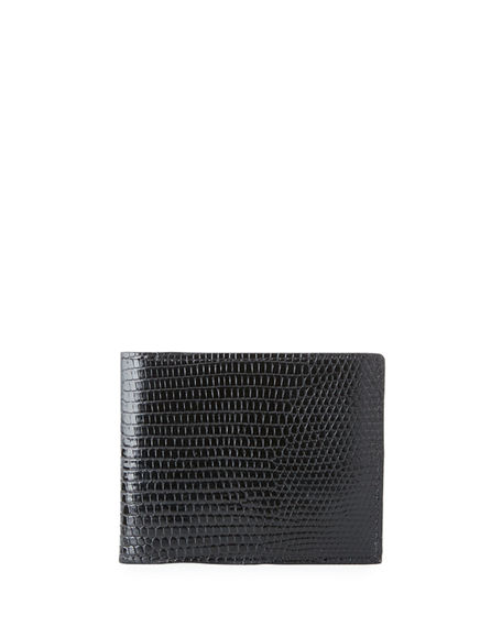Abas Men's Slim Lizard Bifold Wallet