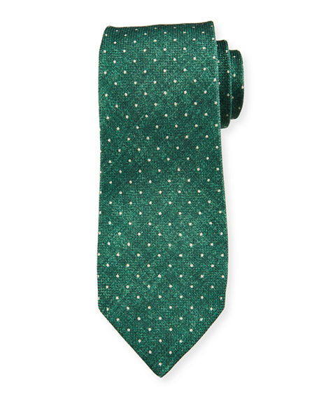 Isaia Pindot Cotton/Silk Tie