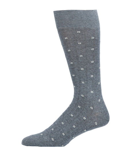 Neiman Marcus Men's Square-Dot Socks