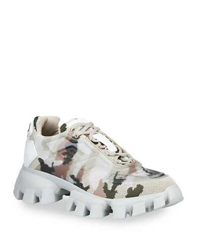 Men's Rubber Knit Camouflage Sneakers