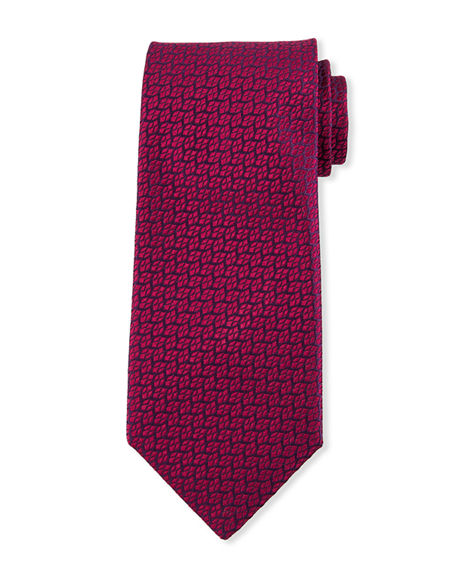 Charvet Men's Leaves Silk Tie