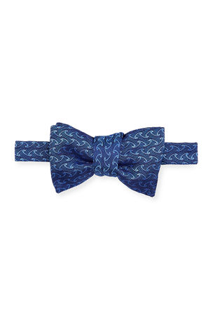 Charvet Men's Patterned Silk Bow Tie