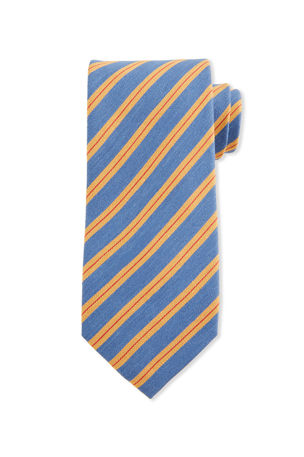 Charvet Thick Stripe Silk Tie