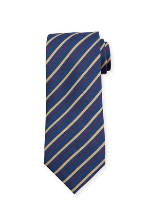Charvet Double Stripe Silk Tie
