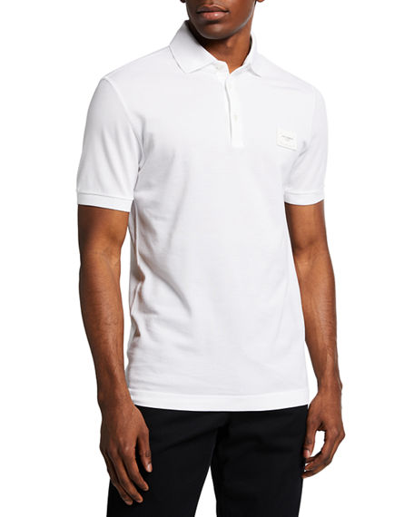 Image 1 of 2: Dolce & Gabbana Men's Consign Basic Polo Shirt