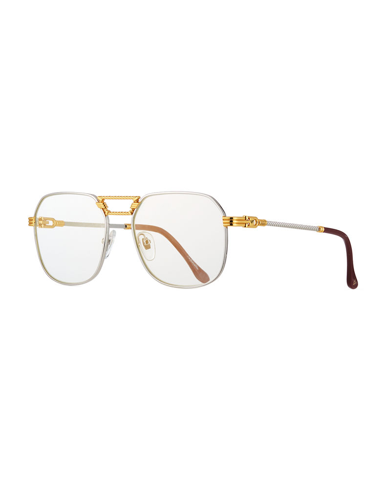 Vintage Frames Company Men's CEO Textured Gold-Plated Gradient Sunglasses