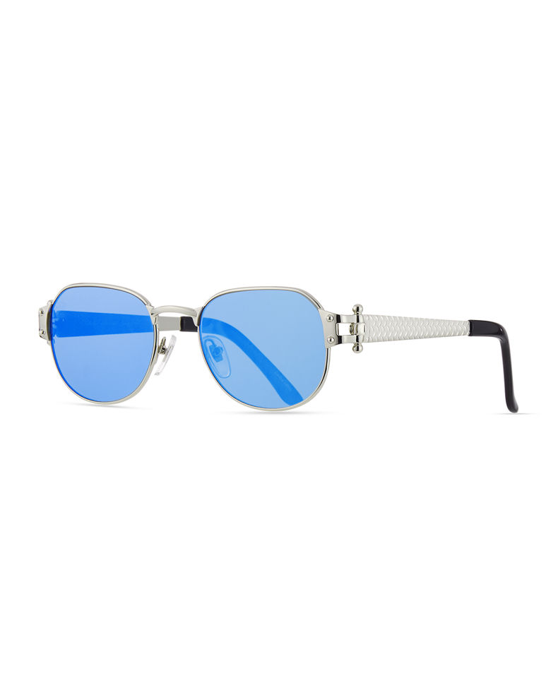 Vintage Frames Company Men's 1999 Masterpiece White Gold-Plated Sunglasses