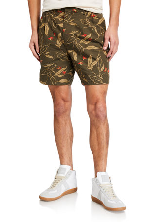 Rag & Bone Men's Jackson Floral-Print Shorts