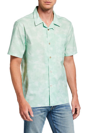 Ovadia Men's Sunwashed Cotton Beach Shirt