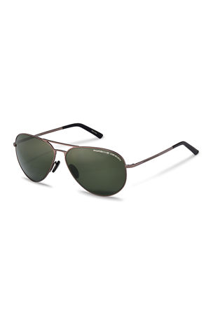 Porsche Design Men's Purism Metal Aviator Sunglasses