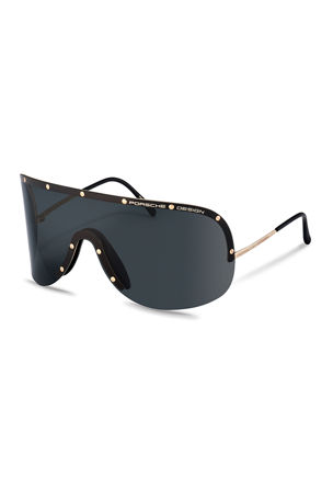 Porsche Design Men's Iconic Heritage Shield Sunglasses