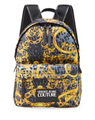 Versace Jeans Couture Men's Signature Printed Backpack