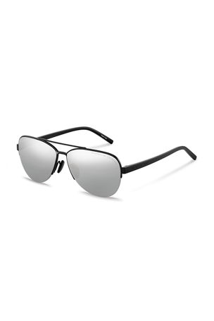 Porsche Design Men's Purism Two-Tone Aviator Sunglasses