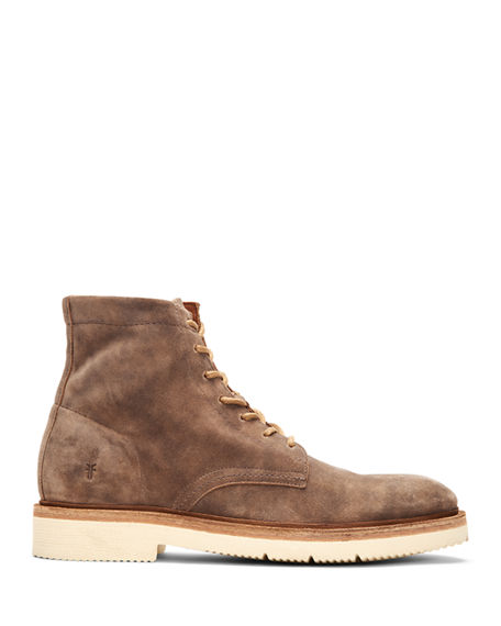 Image 2 of 4: Frye Men's Bowery Leather Lace-Up Boots