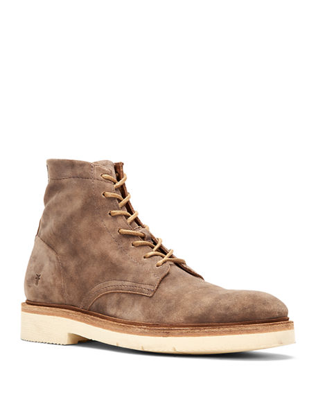 Image 1 of 4: Frye Men's Bowery Leather Lace-Up Boots