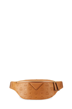 MCM Men's Fursten Monogrammed Leather Belt Bag