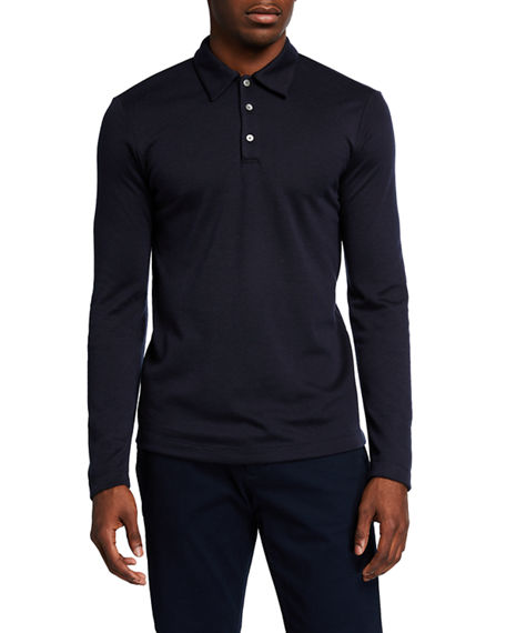 Theory Men's Double-Cashmere Jersey Long-Sleeve Shirt