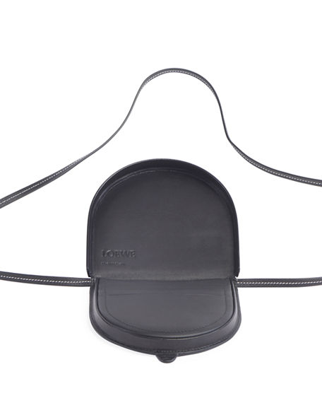 Image 2 of 2: Loewe Men's Heel Small Leather Crossbody Pouch Bag