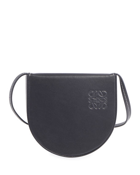 Image 1 of 2: Loewe Men's Heel Small Leather Crossbody Pouch Bag