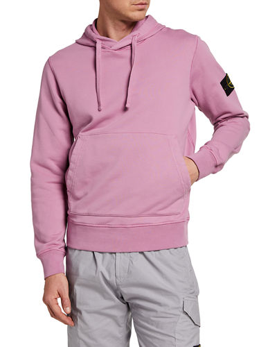 Men's Pullover Hoodie with Logo Patch