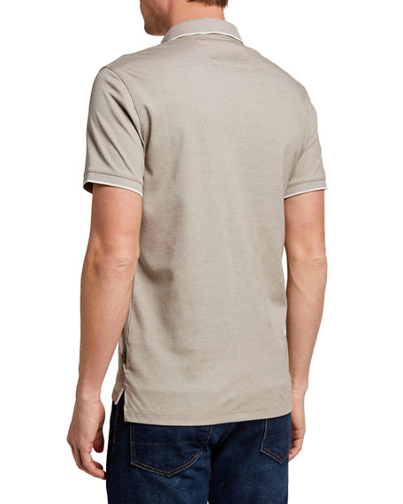 Image 2 of 2: John Varvatos Star USA Men's Cambridge Birdseye Pique Polo Shirt