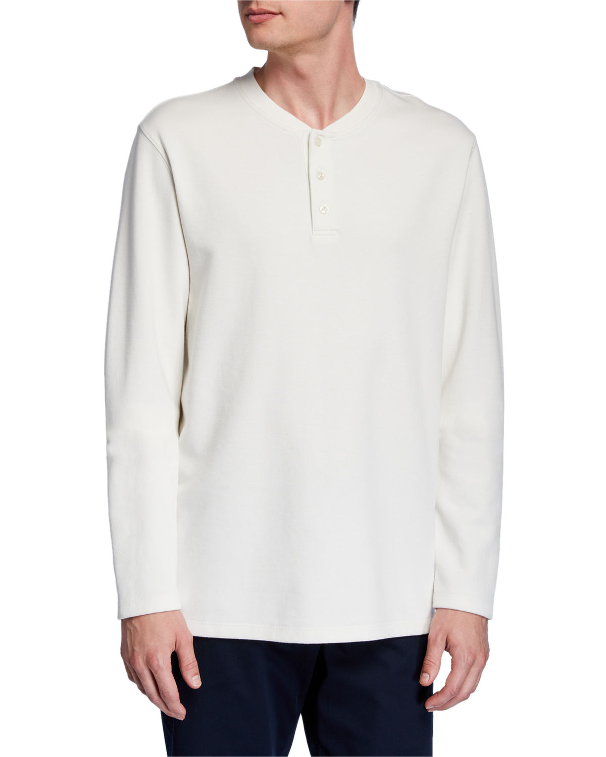 Vince Knits MEN'S DOUBLE-KNIT HENLEY SHIRT