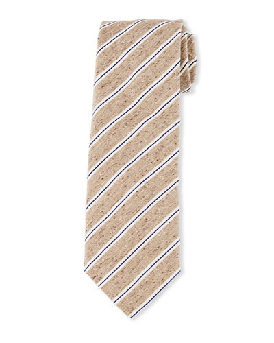 Brioni Heathered Thin Stripe Tie