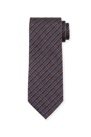 Brioni Men's Multi Diagonal Rope Silk Tie