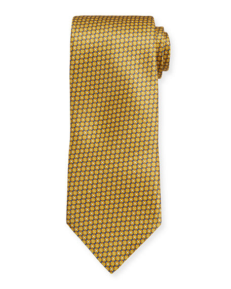 Brioni Multi Hexagon Silk Tie