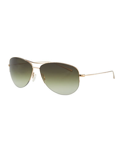 Men's Strummer Gradient Metal Aviator Sunglasses