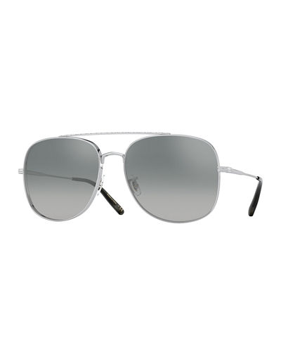 Unisex Taron Metal Double-Bridge Sunglasses