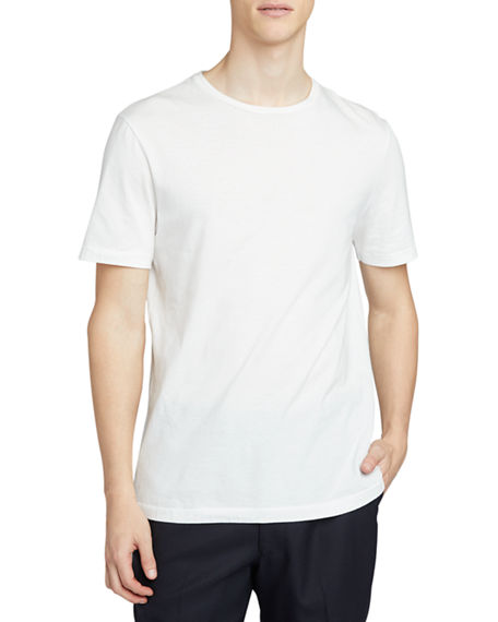 THE ROW Men's Luke Solid Cotton T-Shirt