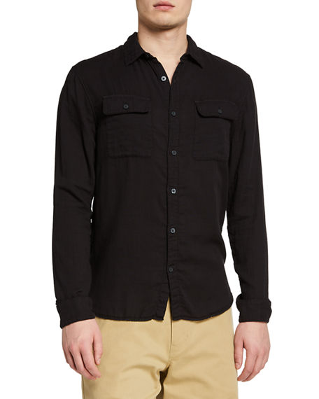 Vince Men's Double-Face Garment-Dyed Sport Shirt