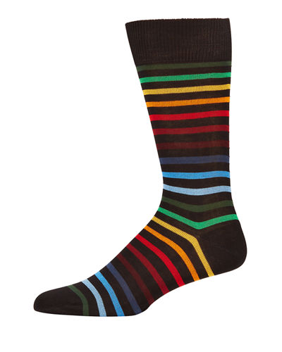 Paul Smith Men's Neo Rainbow Knit Socks