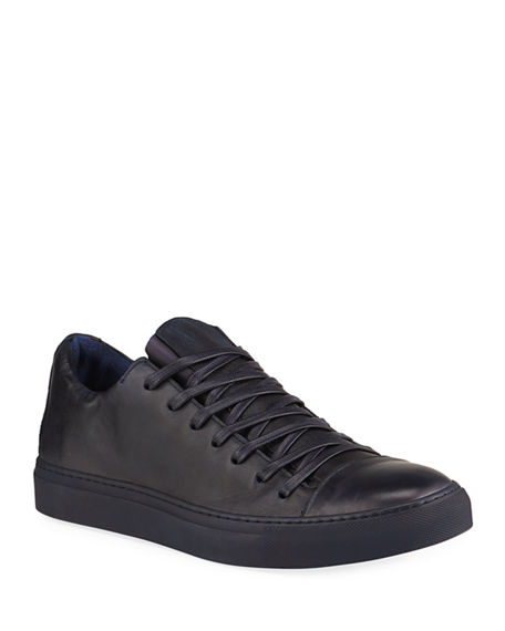 John Varvatos Men's Reed Tonal Leather Low-Top Sneakers