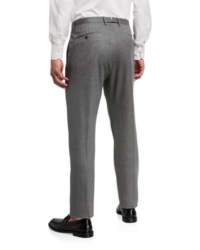 Zanella Men's Noah Flannel Flat-Front Pants