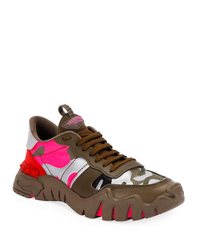 Men's Rockrunner Plus Camo Sneakers
