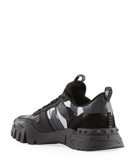 Image 5 of 5: Valentino Men's Rockrunner Plus Camo Sneakers
