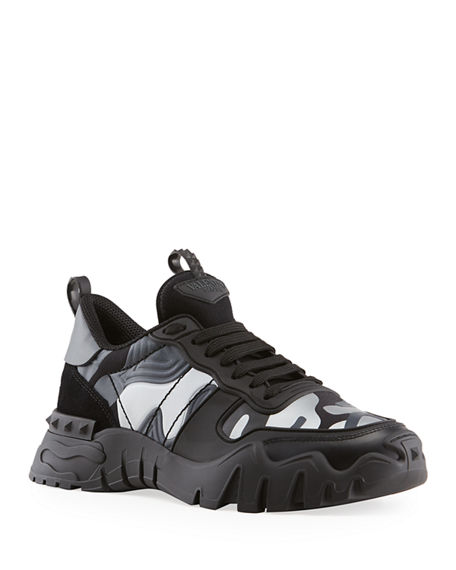 Image 1 of 5: Valentino Men's Rockrunner Plus Camo Sneakers
