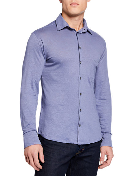 Il Borgo for Neiman Marcus Men's Long-Sleeve Sport Shirt