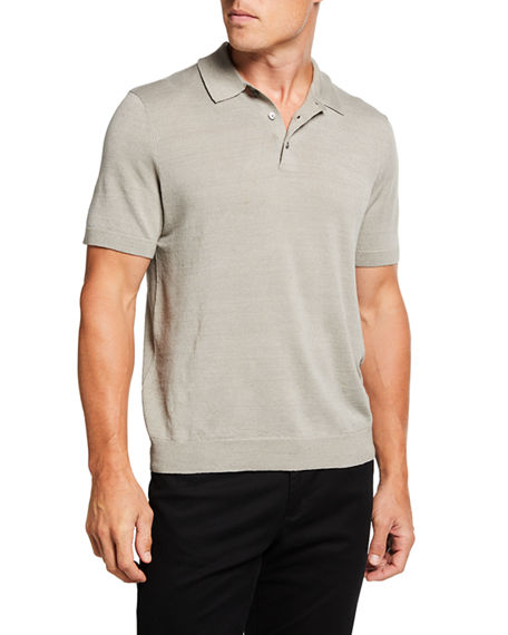 Theory Men's Colona Lightweight Linen-Blend Polo Shirt