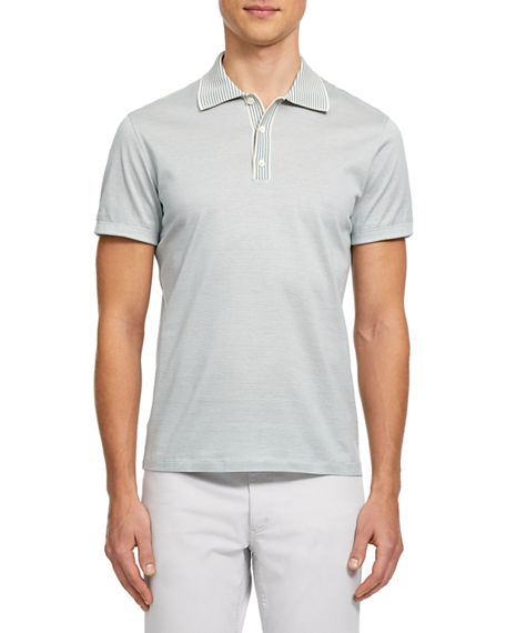 Theory Men's Trio Striped Polo Shirt