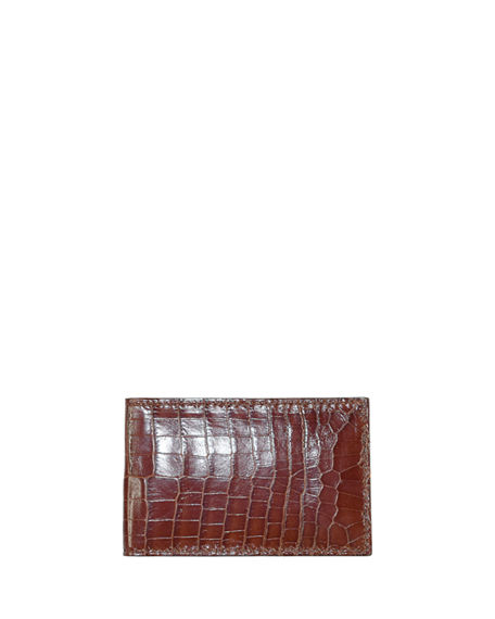 Zambezi Grace Men's Super-Slim Crocodile & Leather Bifold Wallet