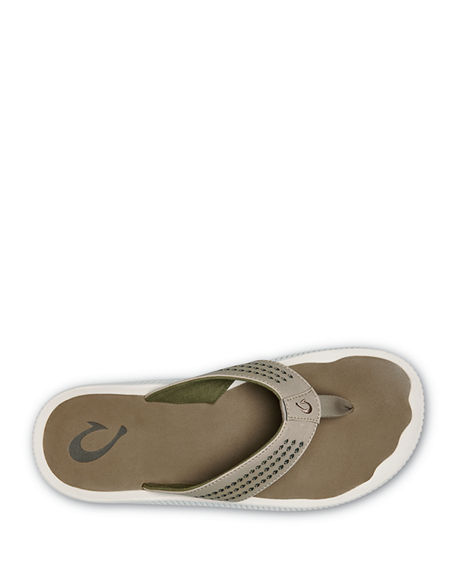 Image 2 of 3: Olukai Men's Ulele Beach Thong Sandals