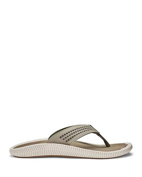 Image 1 of 3: Olukai Men's Ulele Beach Thong Sandals