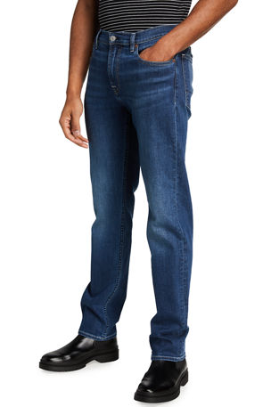 7 for all mankind Men's Slimmy Slim-Straight Organic Cotton Jeans