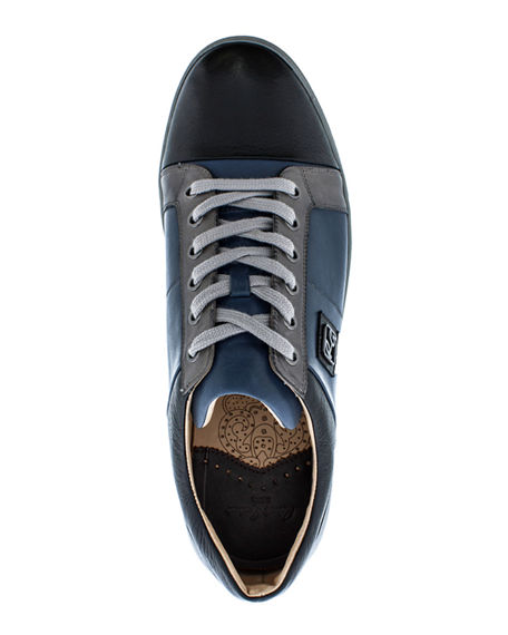 Image 2 of 4: Robert Graham Men's Trixie Colorblock Leather Sneakers