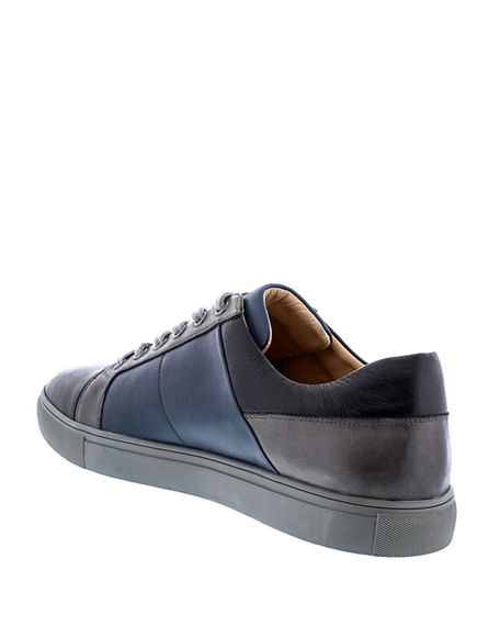 Image 4 of 4: Robert Graham Men's Trixie Colorblock Leather Sneakers