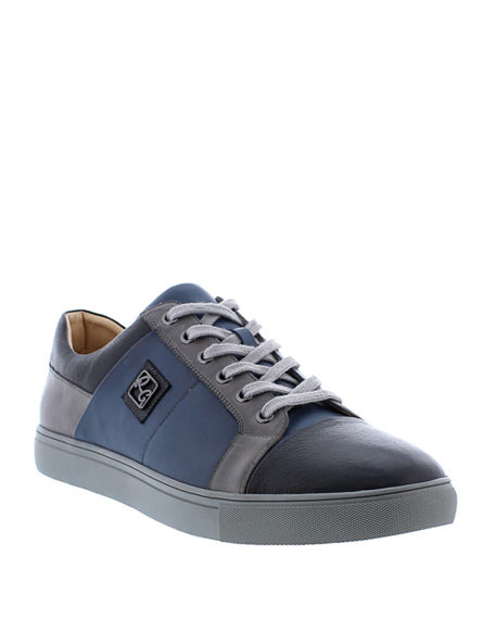 Image 1 of 4: Robert Graham Men's Trixie Colorblock Leather Sneakers