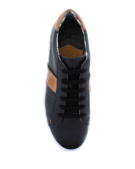Image 2 of 4: Robert Graham Men's Attwood Two-Tone Leather Sneakers
